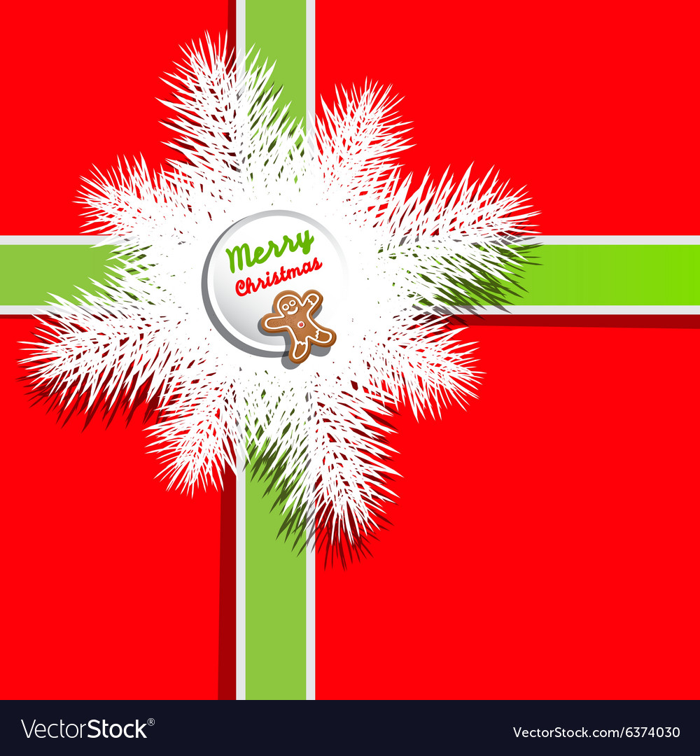 red background christmas present gift box cover vector image