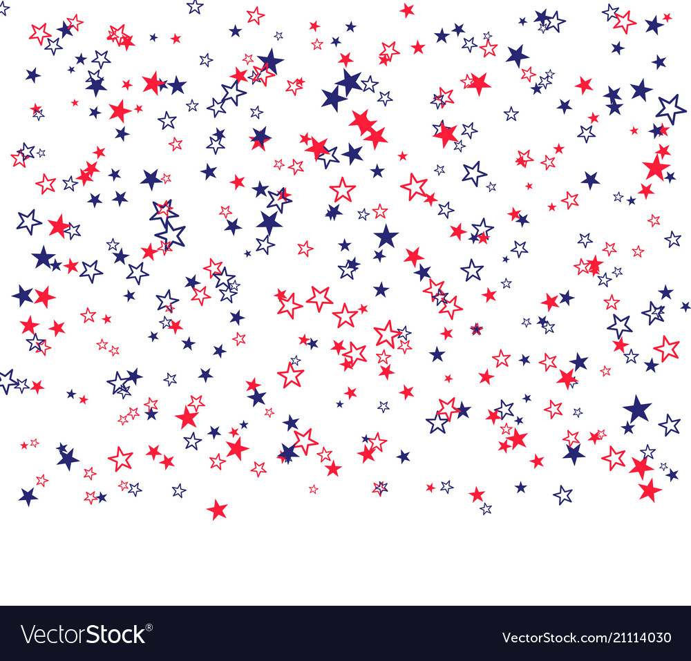 Red blue and white stars for holiday