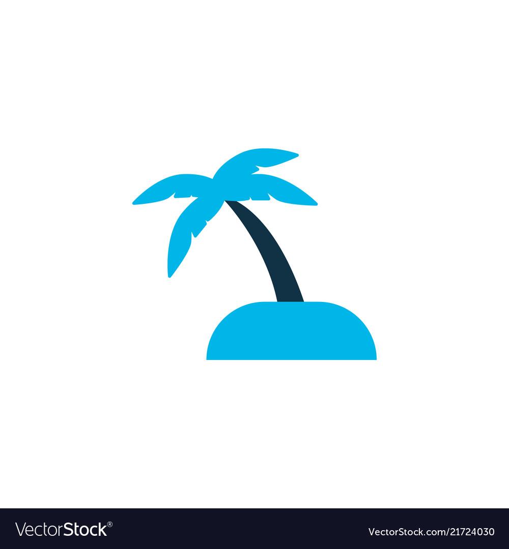 Sand with palm icon colored symbol premium