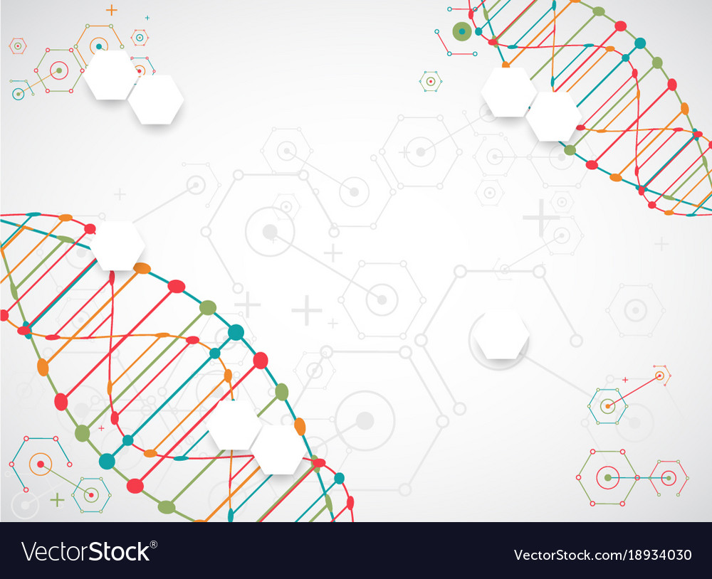 science template wallpaper or banner with a dna vector image