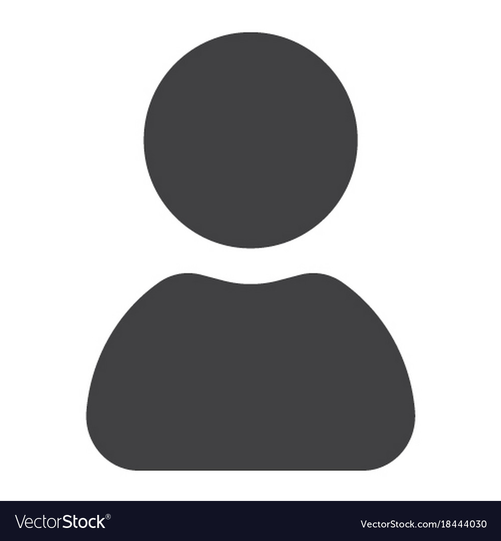 User glyph icon web and mobile admin sign vector image