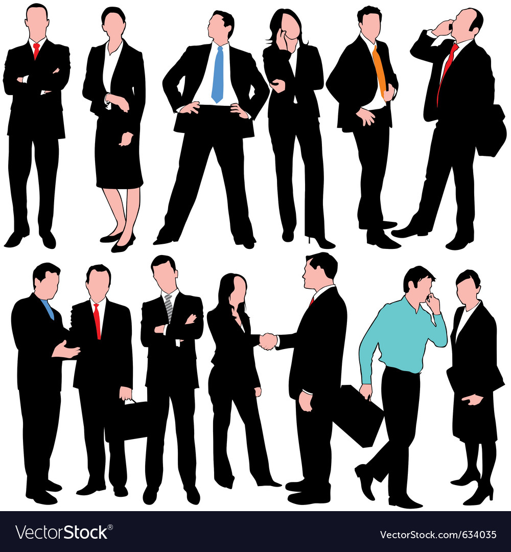 13 business people set