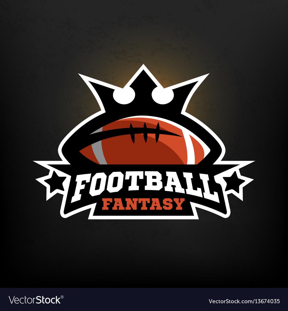 American football fantasy logo