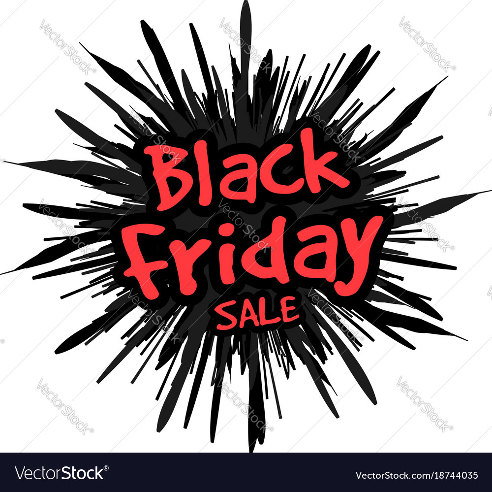 Black friday in form a star drawn in the