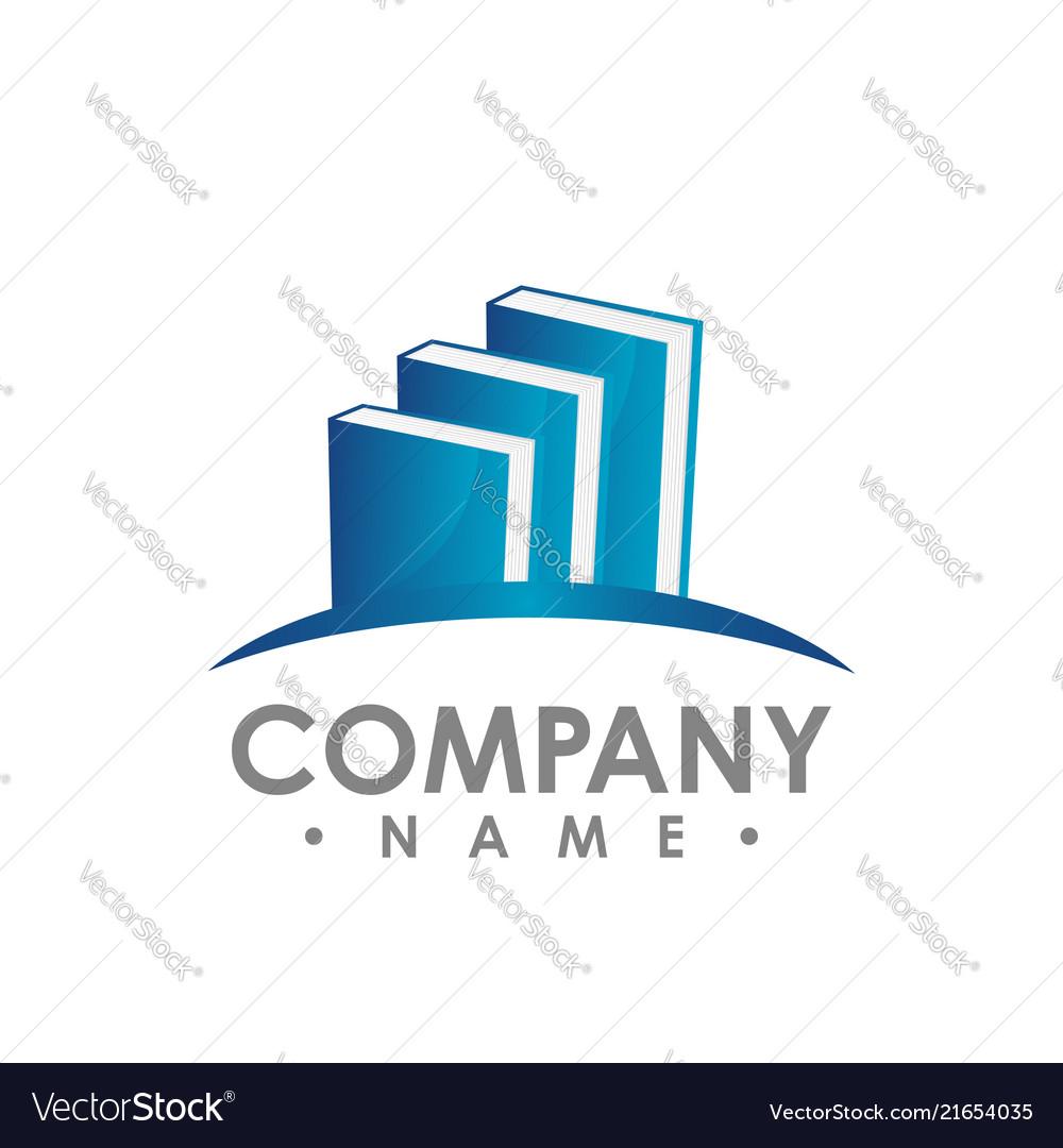 Creative book logo book color logo school books Vector Image