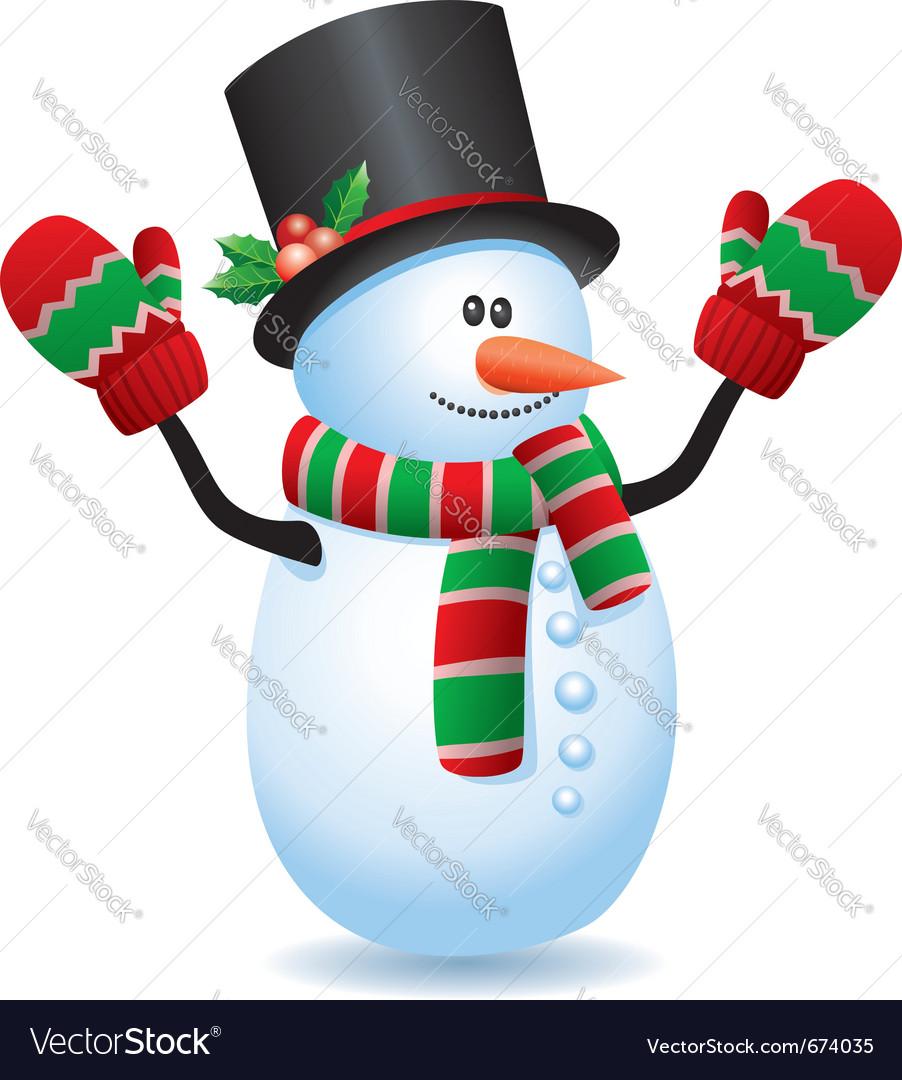happy snowman royalty free vector image vectorstock rh vectorstock com snowman vector ai snowman vector free