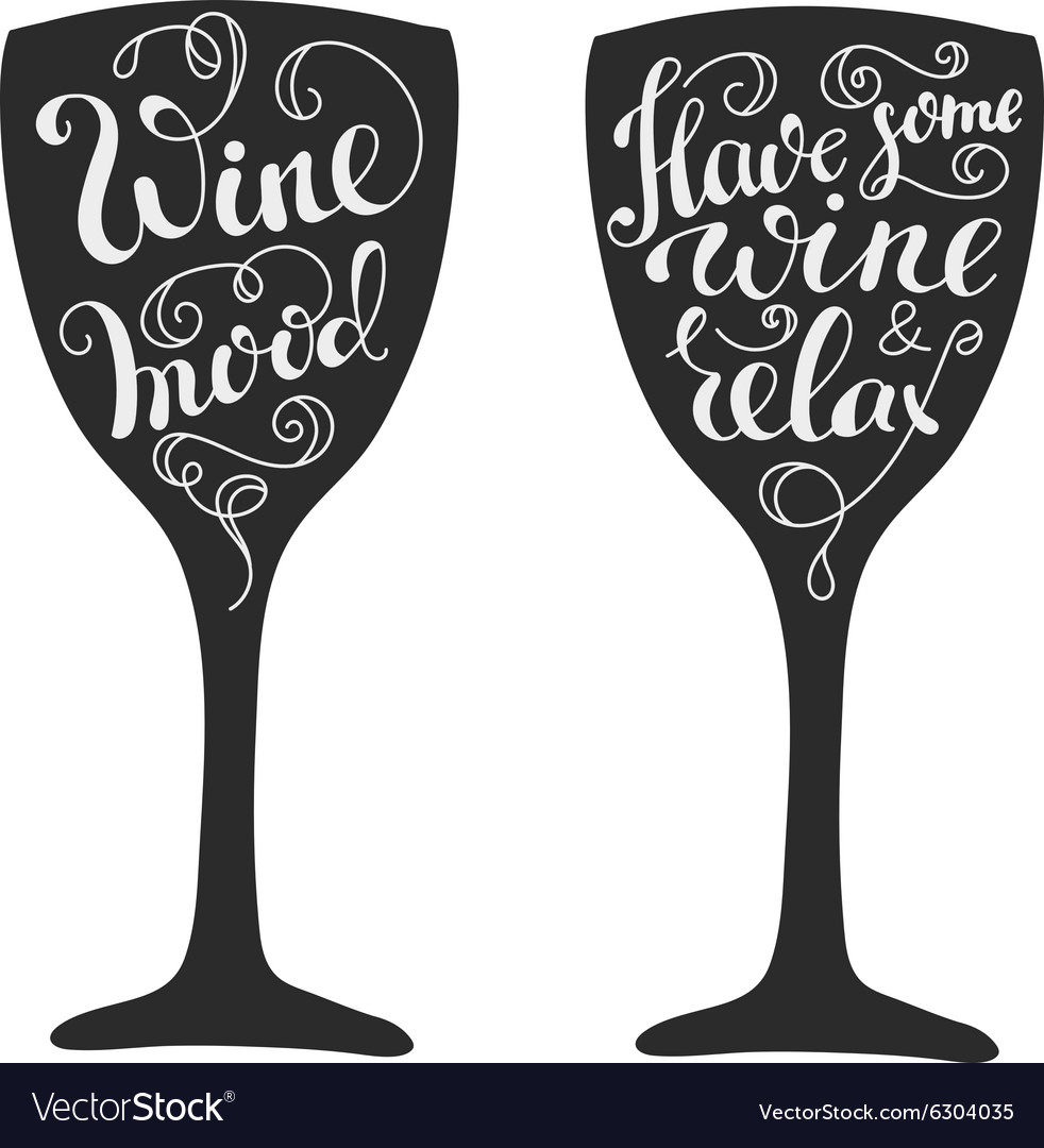 Wine Glass Quotes Quotes about wine on wine glass silhouette Vector Image Wine Glass Quotes