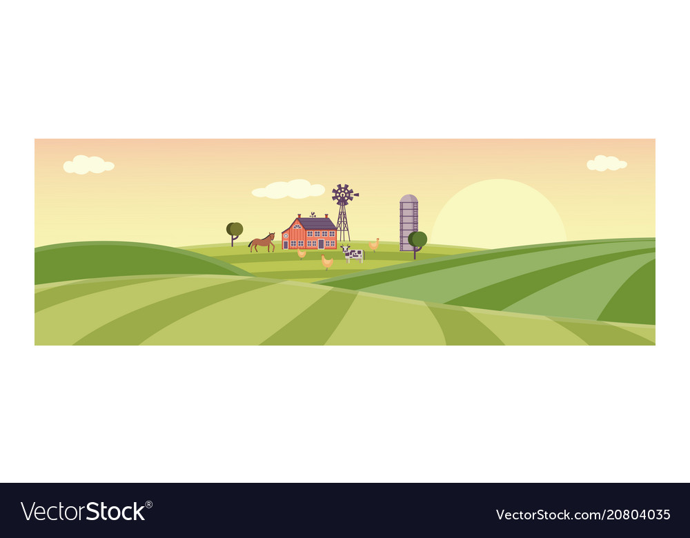 Rural background green grass field