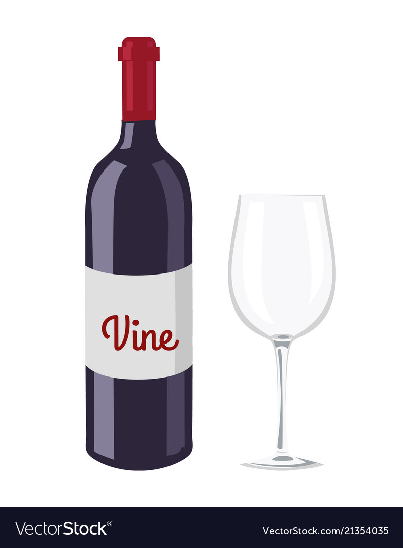 Wine bottle and glass object