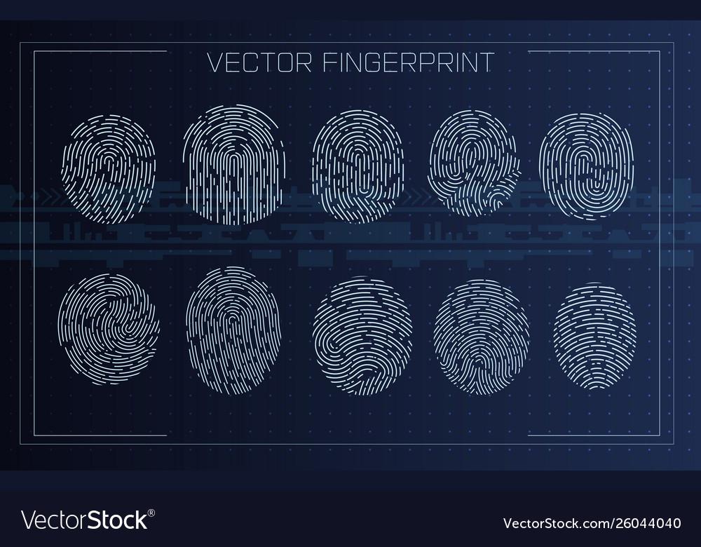 Fingerprint scanning identification system in