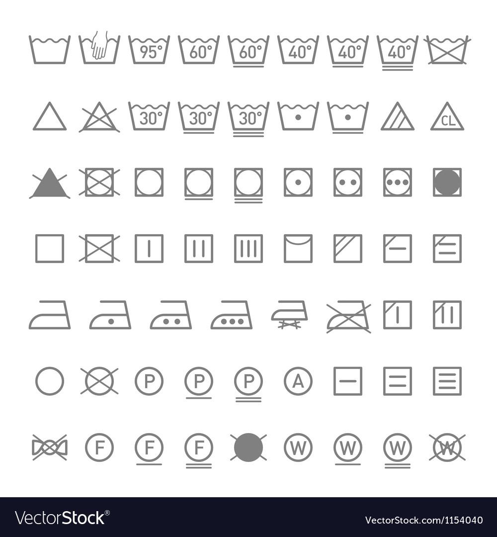Laundry symbols vector image