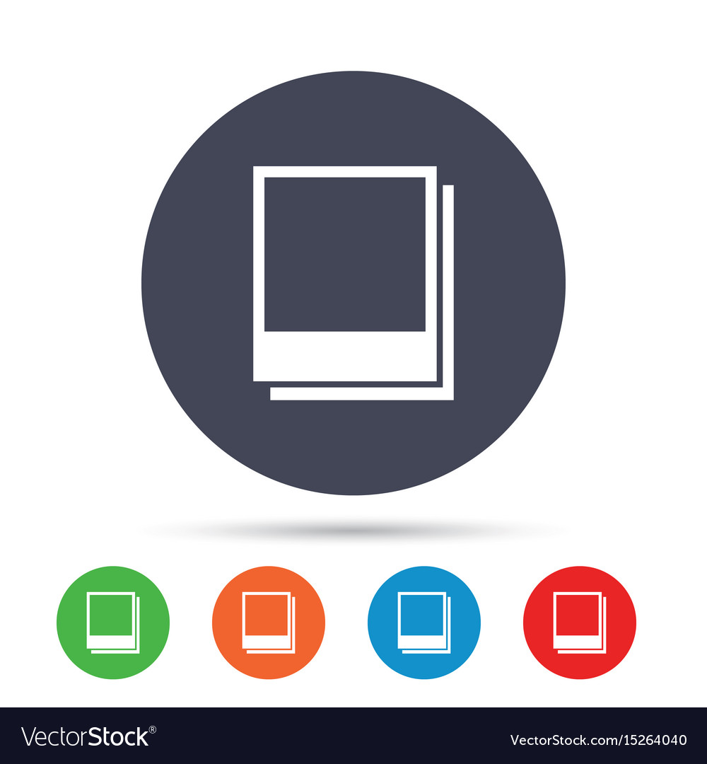 Photo frames template icon empty photography