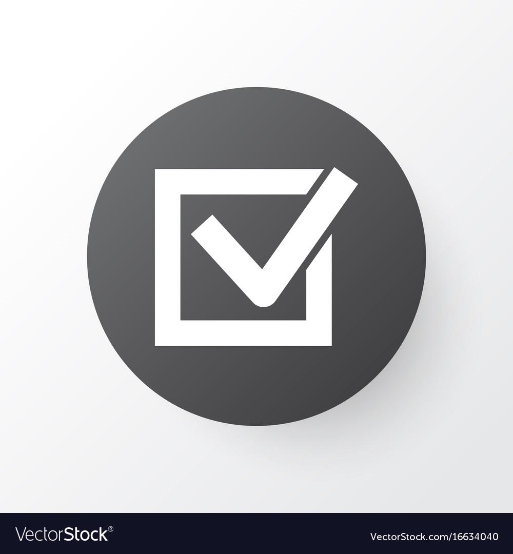 Task icon symbol premium quality isolated check vector image