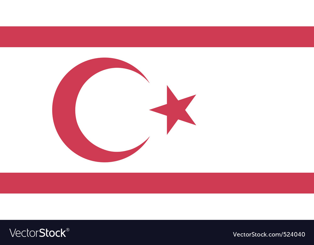 Turkish republic of northern cyprus flag vector image