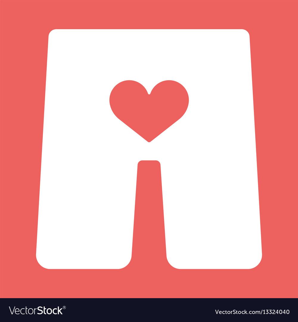 Underwear with heart icon
