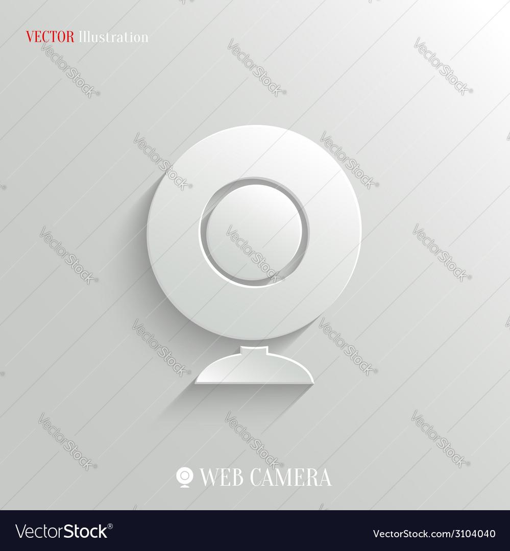 Webcamera icon - white app button