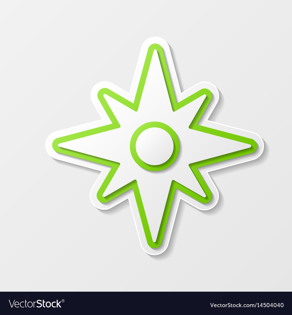 Windrose abstract symbol vector image