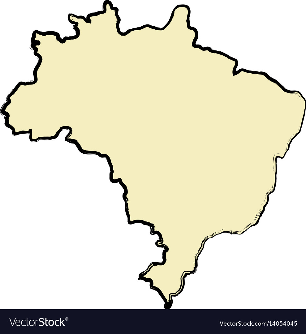 Brazil map isolated icon