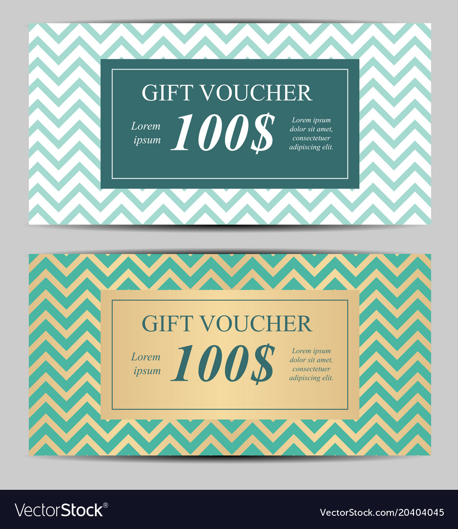 Gift Voucher Template For Your Business Royalty Free Vector