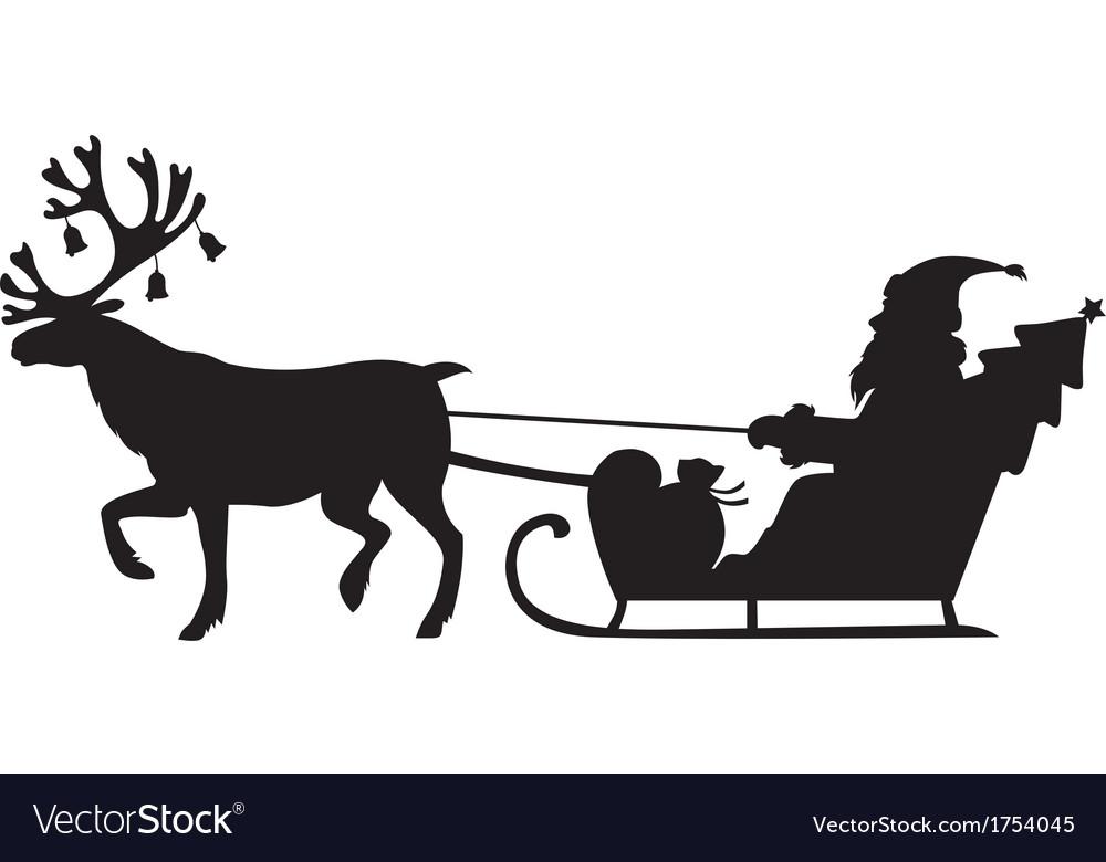 дед мороз на санях с лошадьми картинки силуэт узнаете