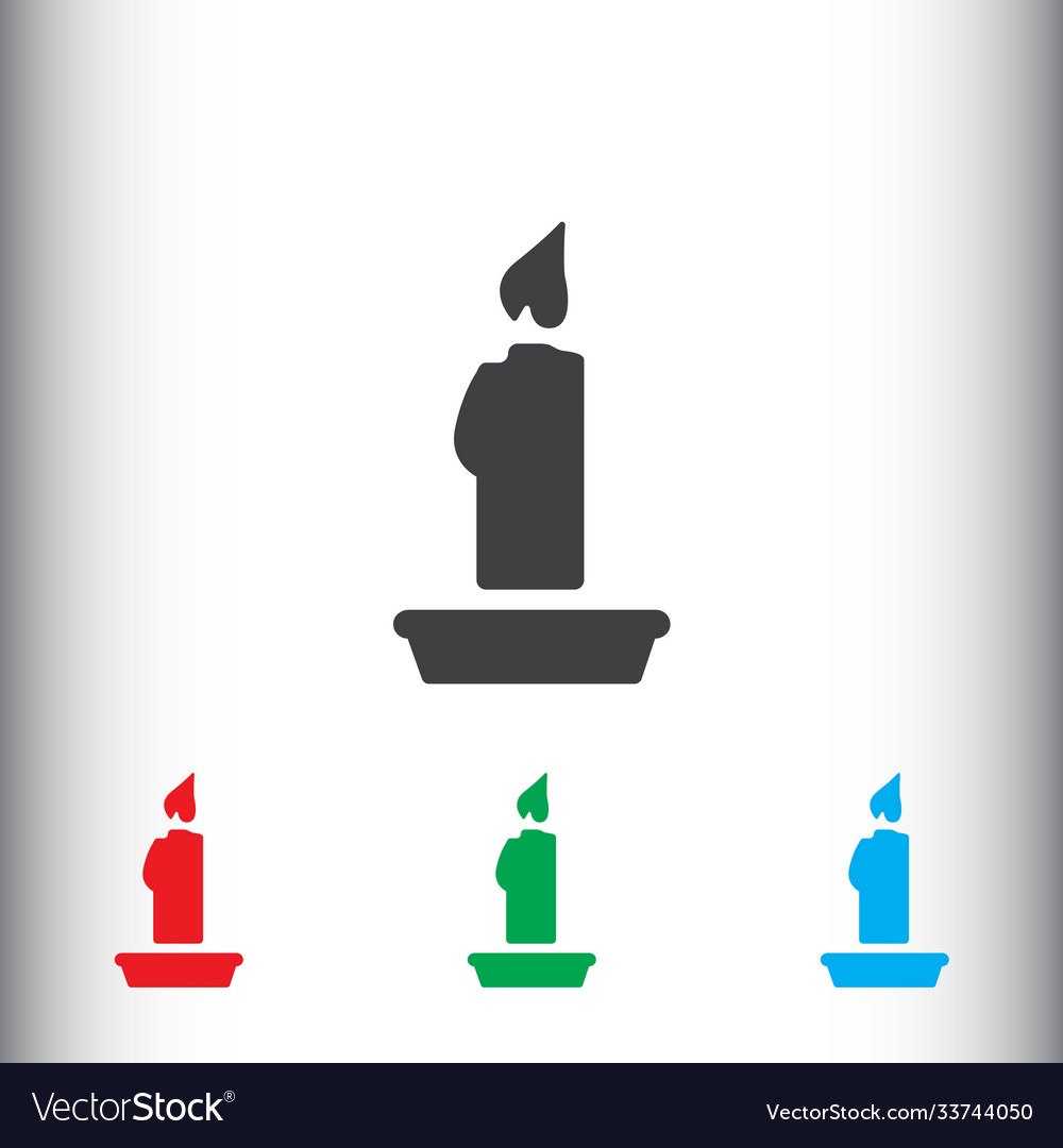 Christmas candle icon sign icon candle