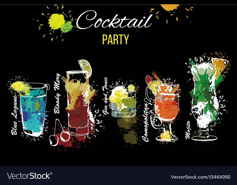 Cocktail party set template for