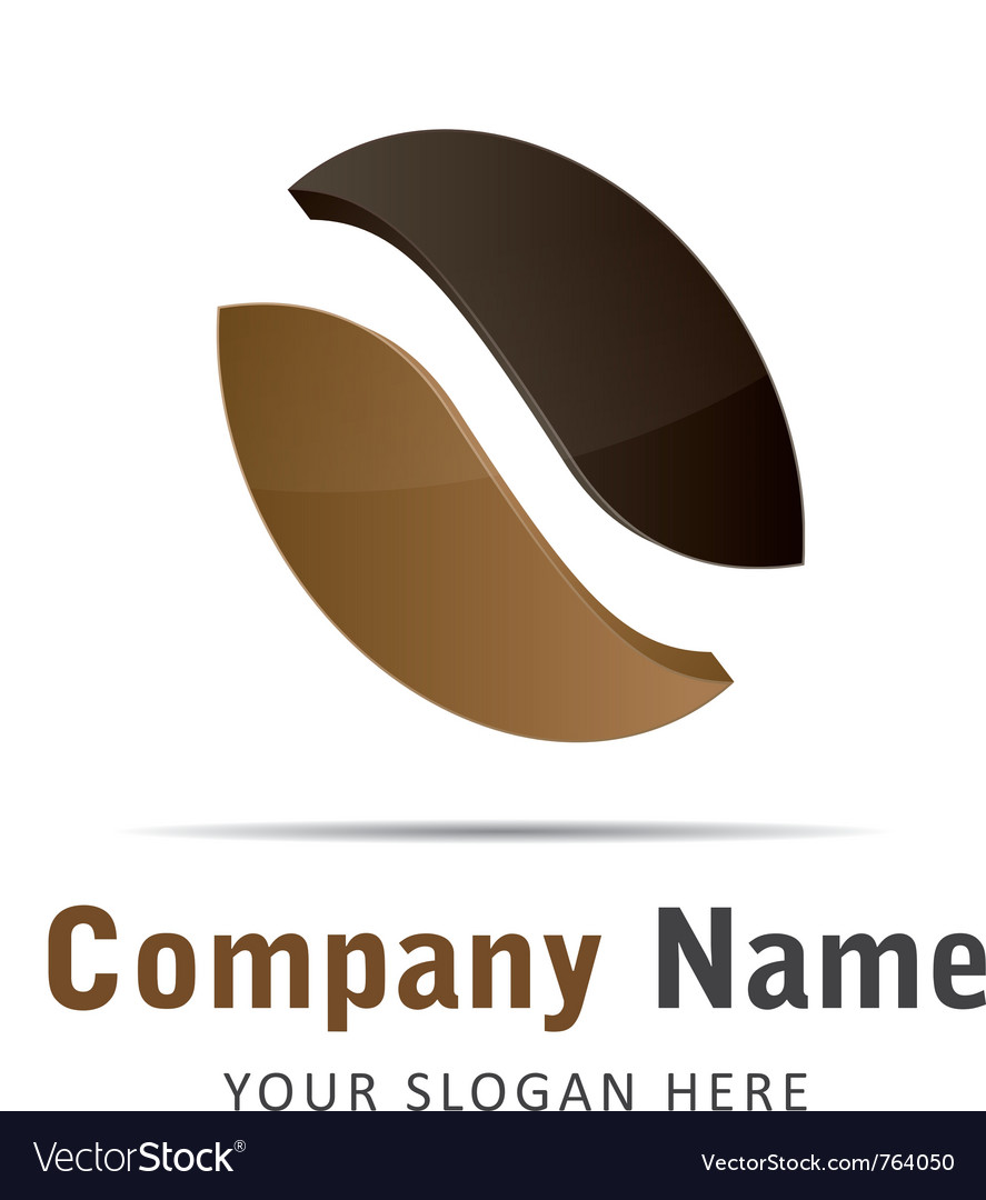 Corporate brand logo logo coffee beans brown
