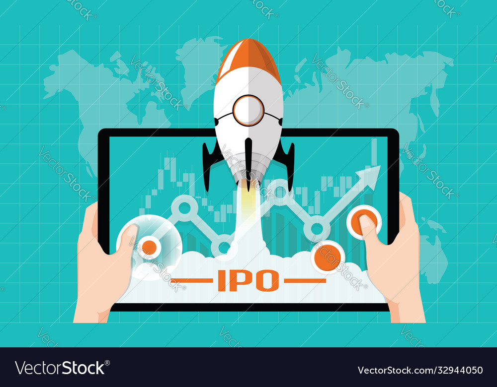 Ipo or initial public offering corporate concept