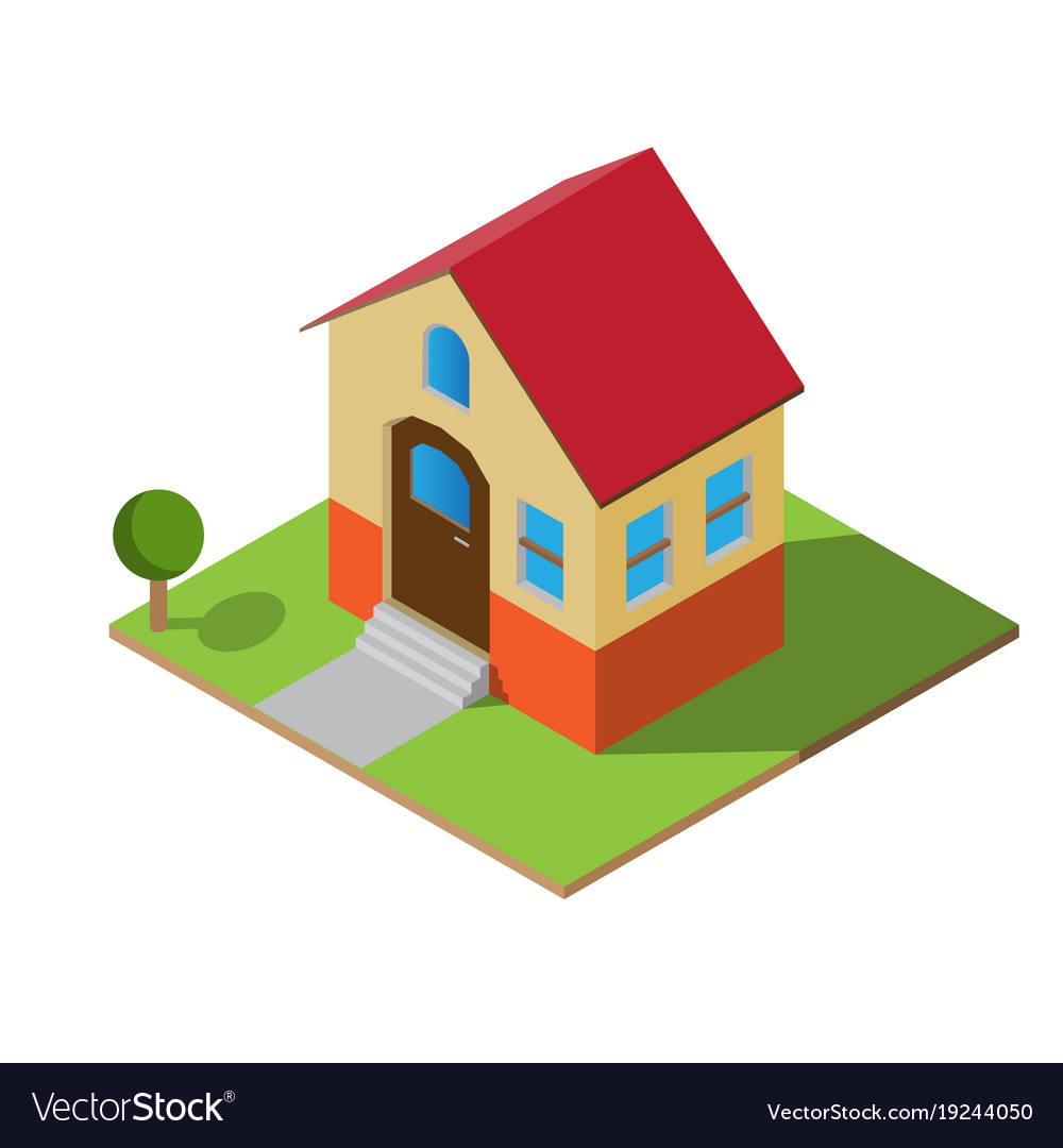 isometric house royalty free vector image vectorstock rh vectorstock com house vector illustration house vector free