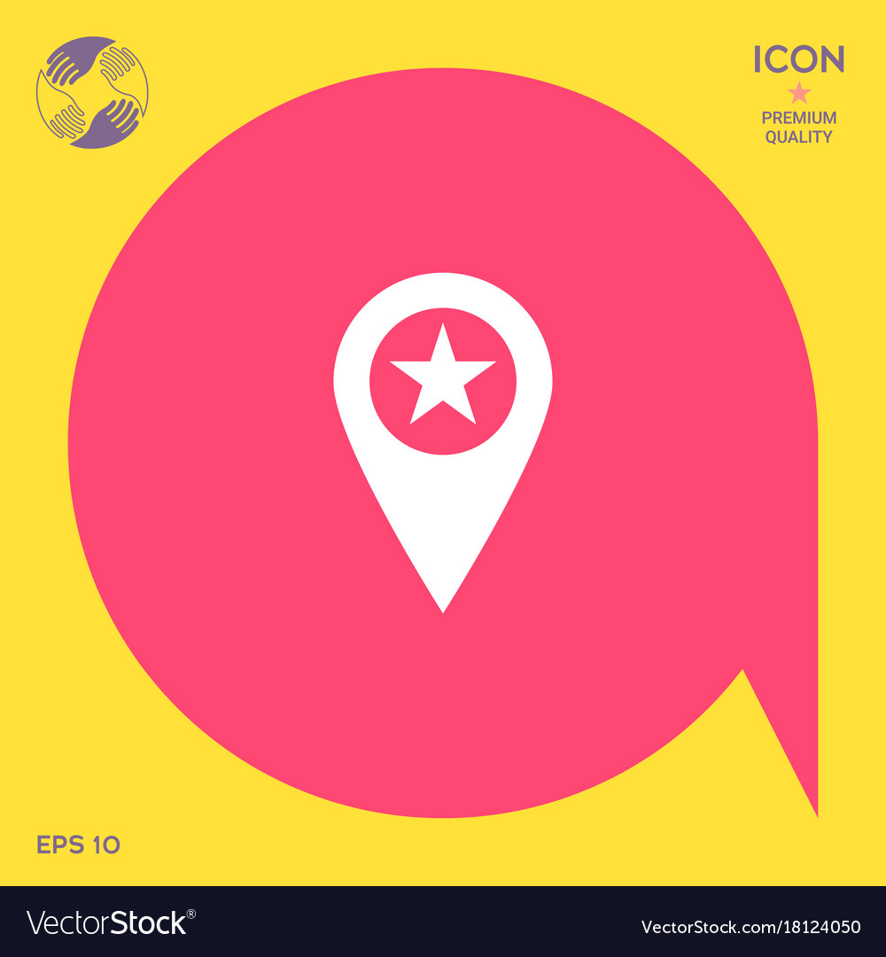 Map pointer with star