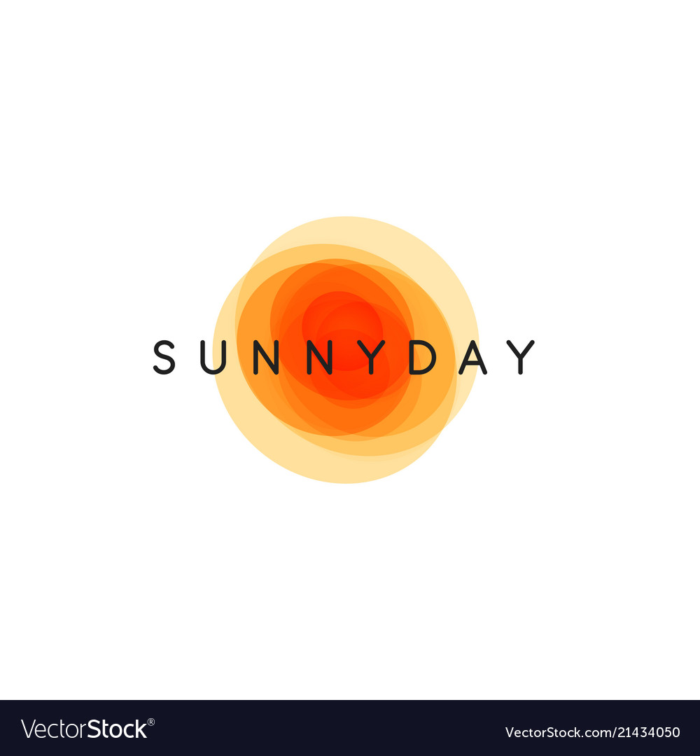 Sunny day abstract sun logo template