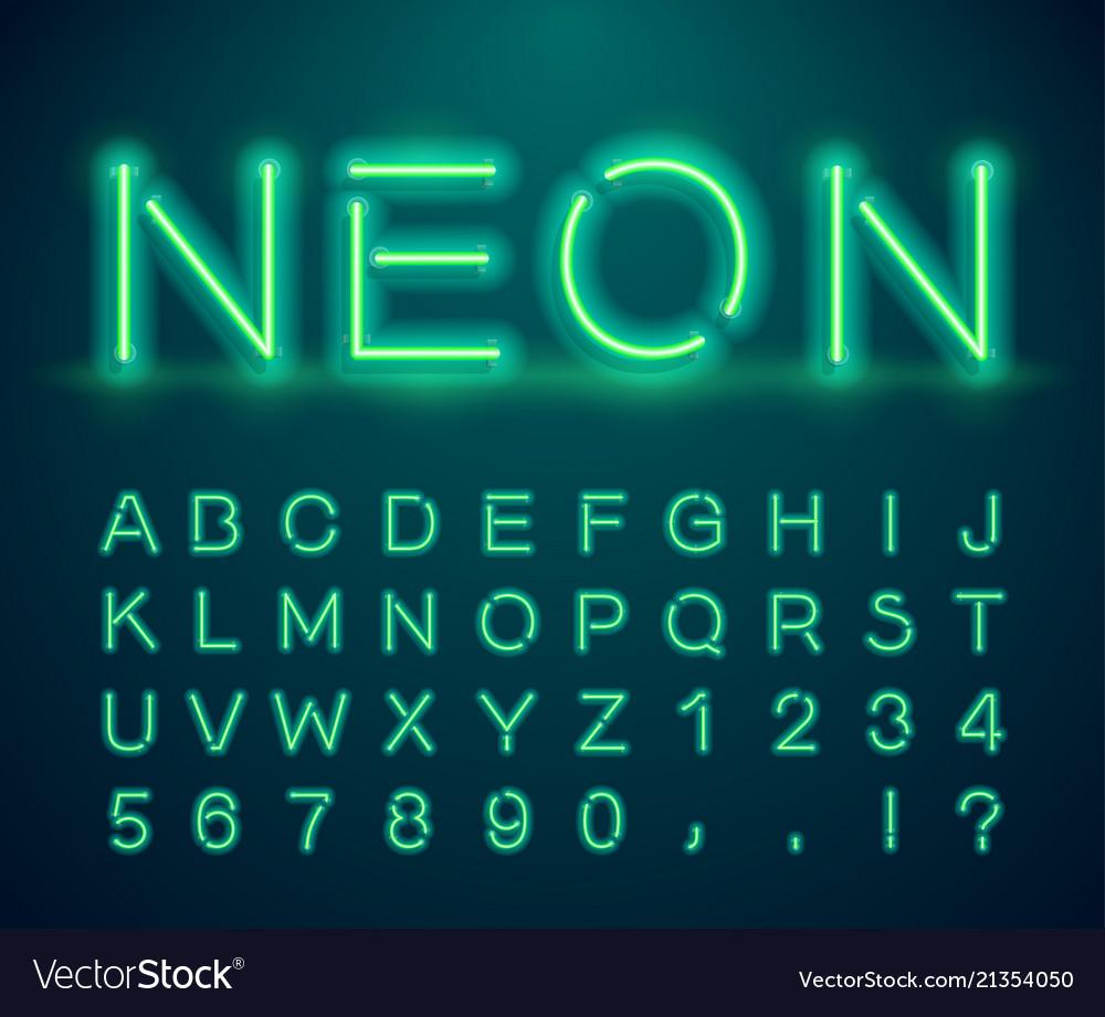 Vintage neon font