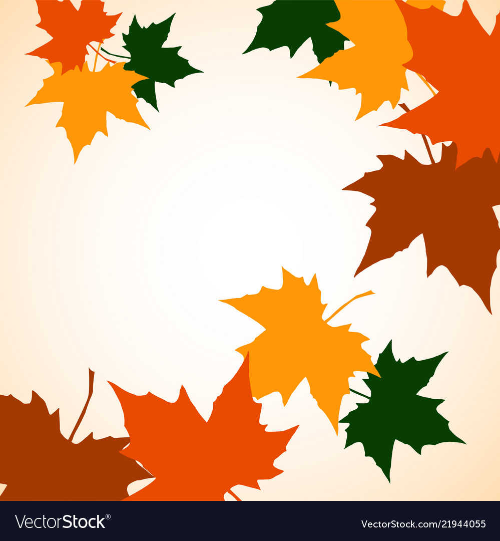 Autumn background of maple leaves colofrul image