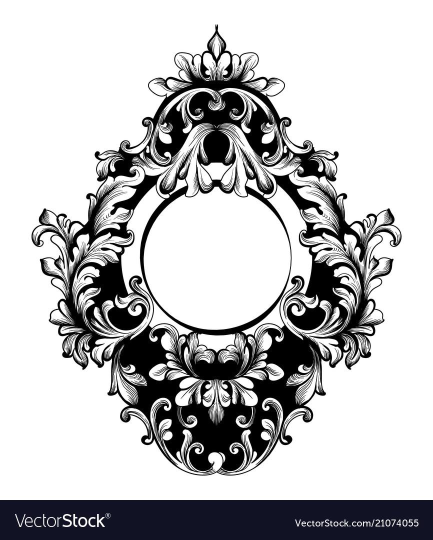 Baroque round frame classic rich