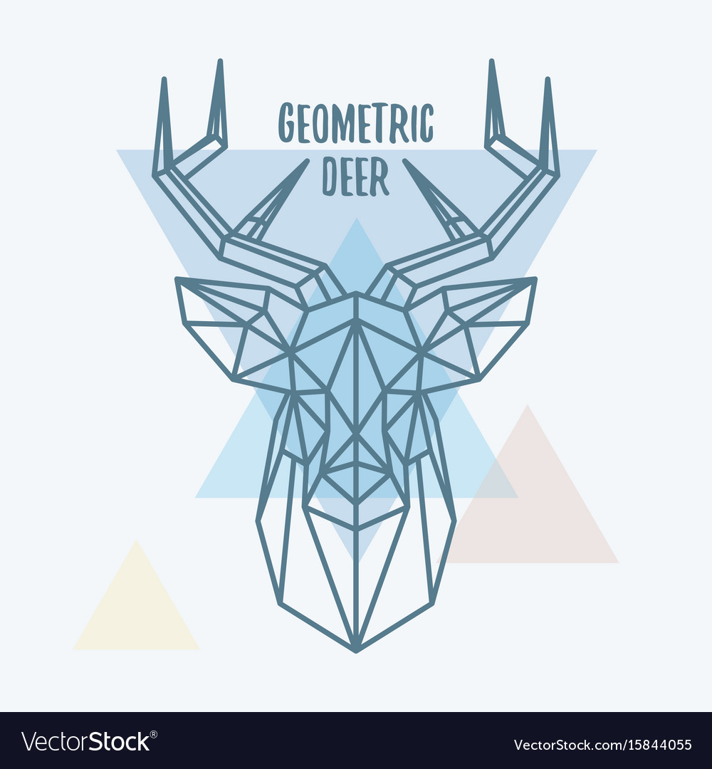 Geometric deer head