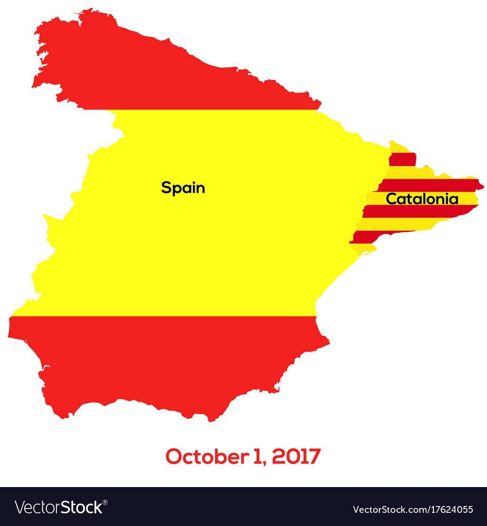 Map Of Spain Catalonia.Referendum Spain Catalonia