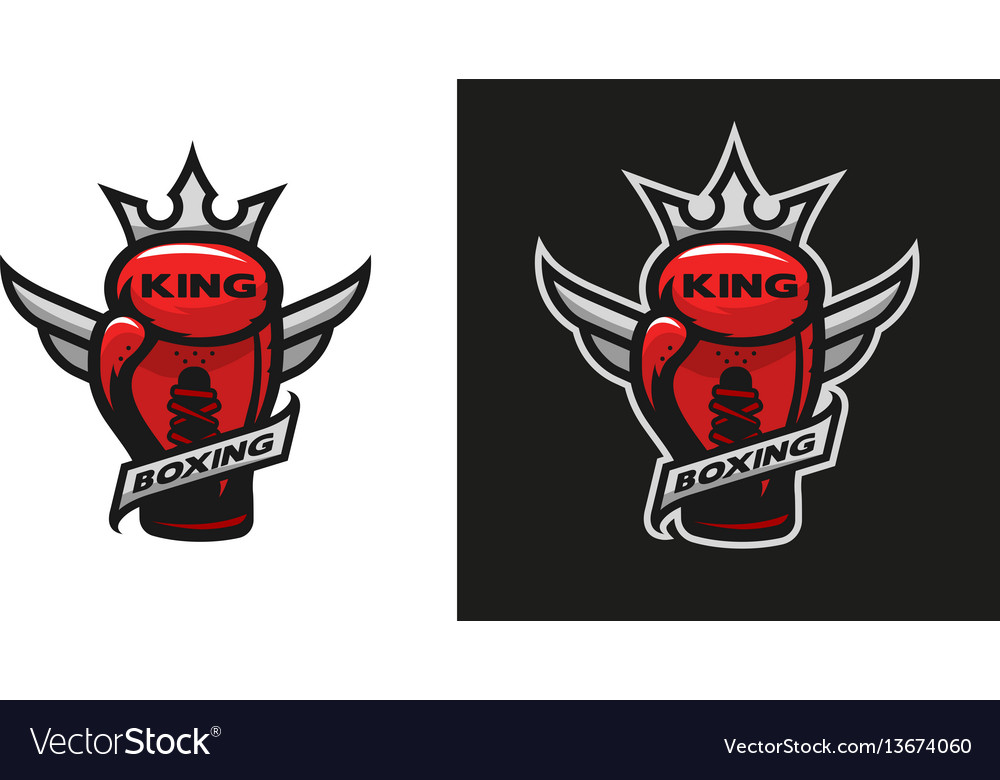 Boxing king boxing glove logo