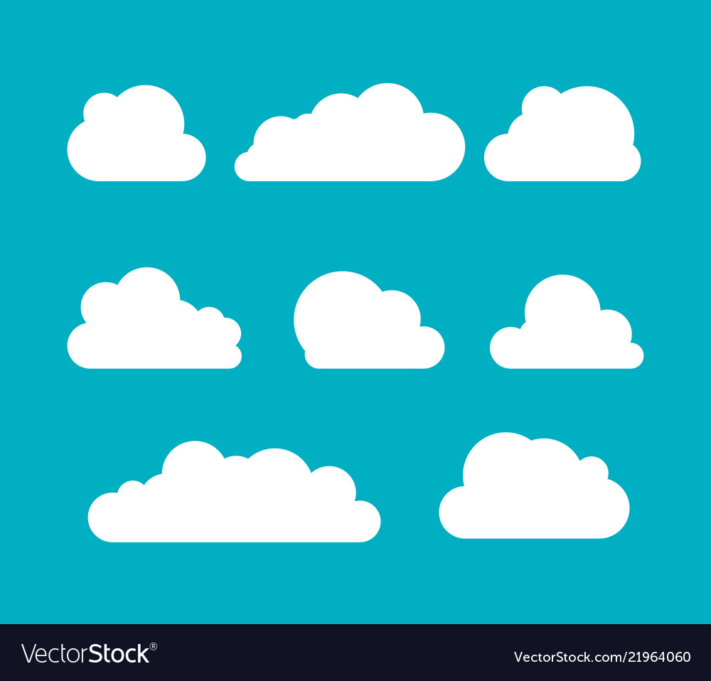 Clouds silhouettes set clouds shapes