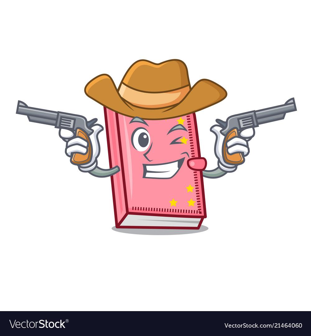 Cowboy diary character cartoon style