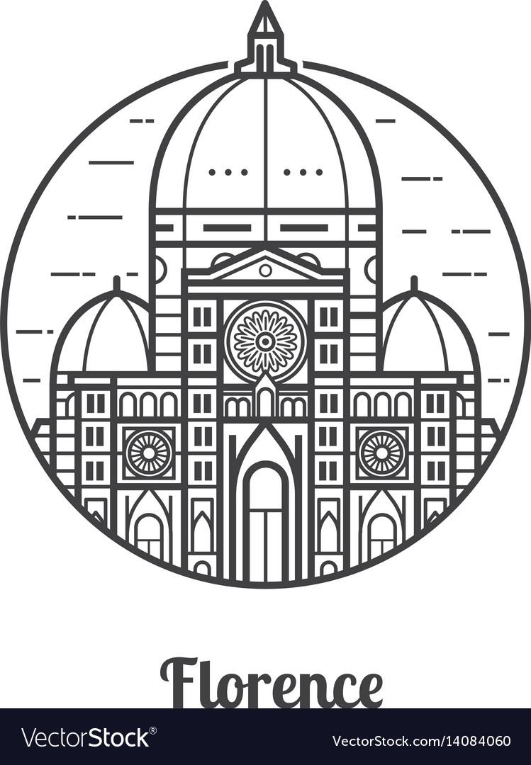Travel florence icon