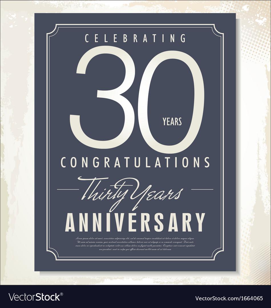 30 years anniversary background