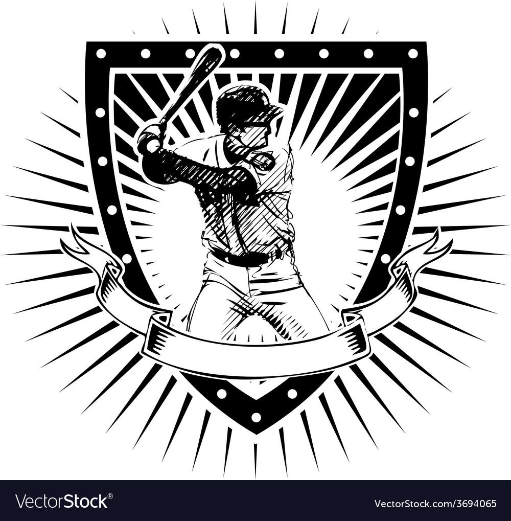 Baseball shield vector image