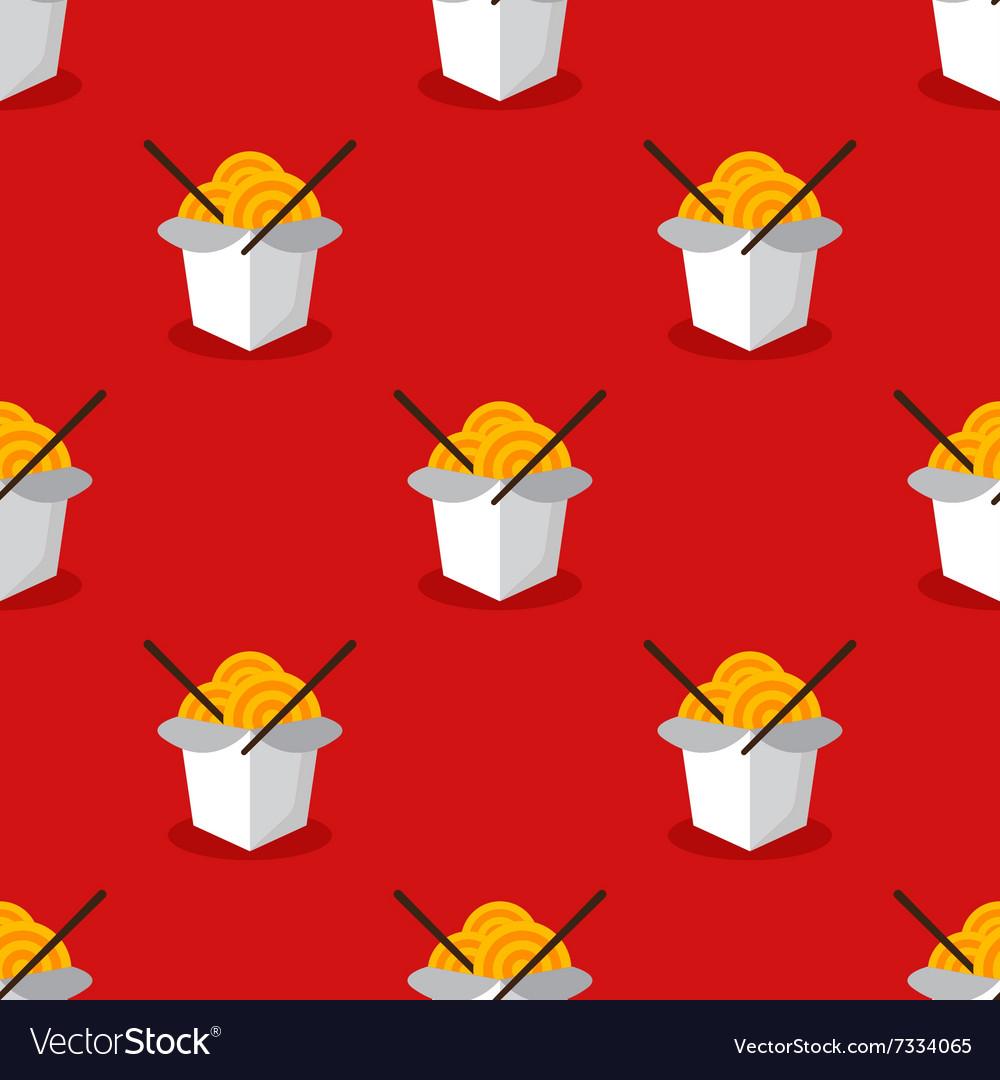 Bright wok box chineese seamless pattern