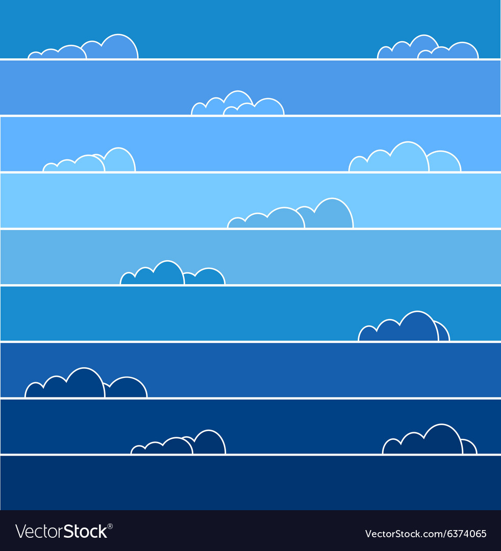 Colored sky vector image