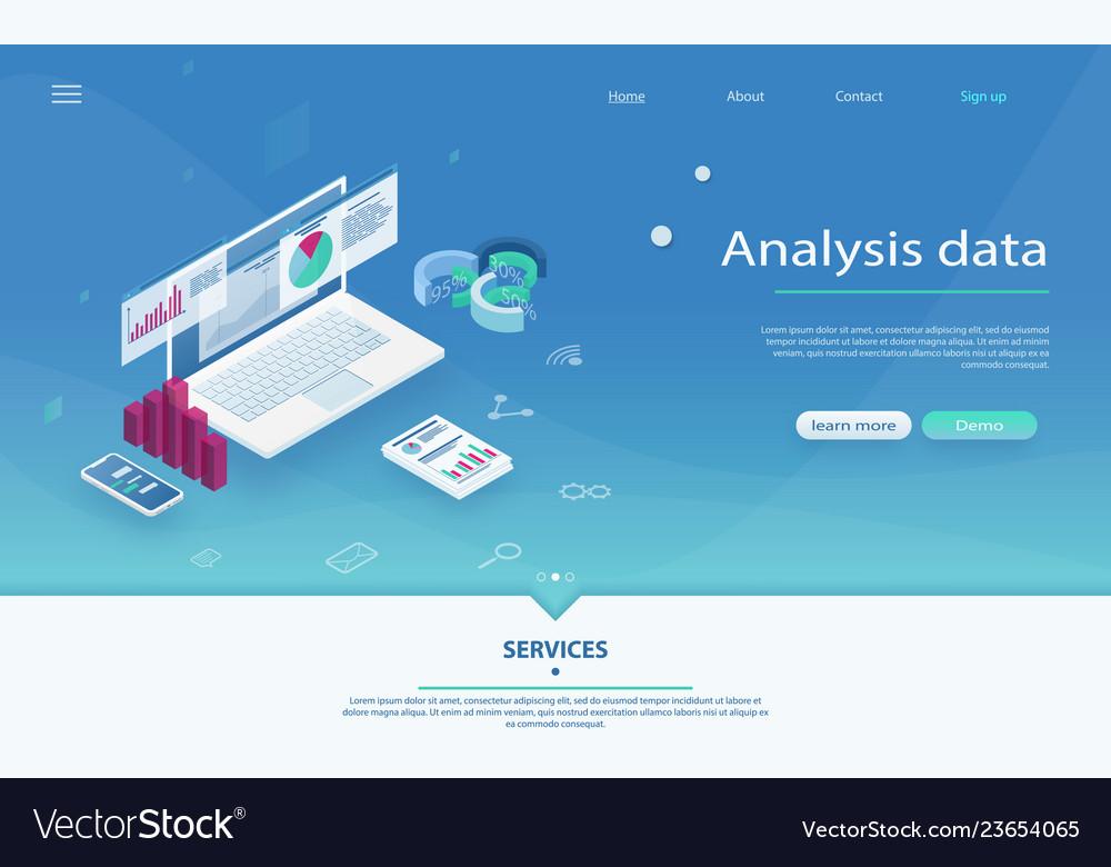 Data analysis server isometric