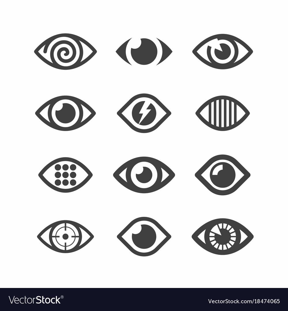 Eye Symbol Icons Royalty Free Vector Image Vectorstock