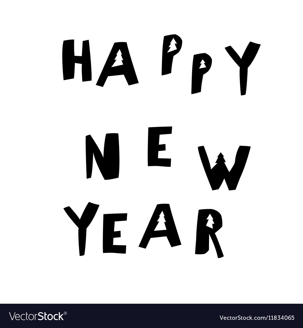 Happy New Year Postcard Holiday concept postcard Vector Image