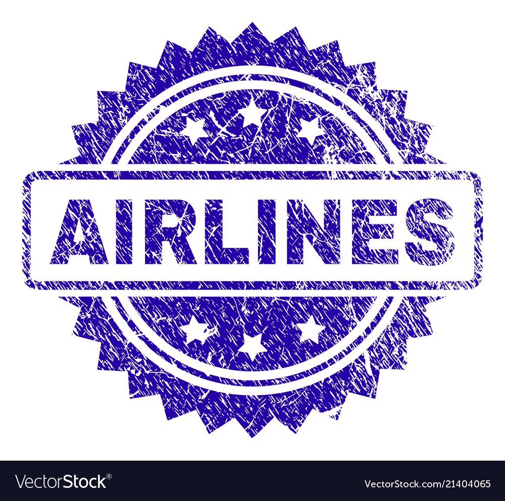 Scratched airlines stamp seal