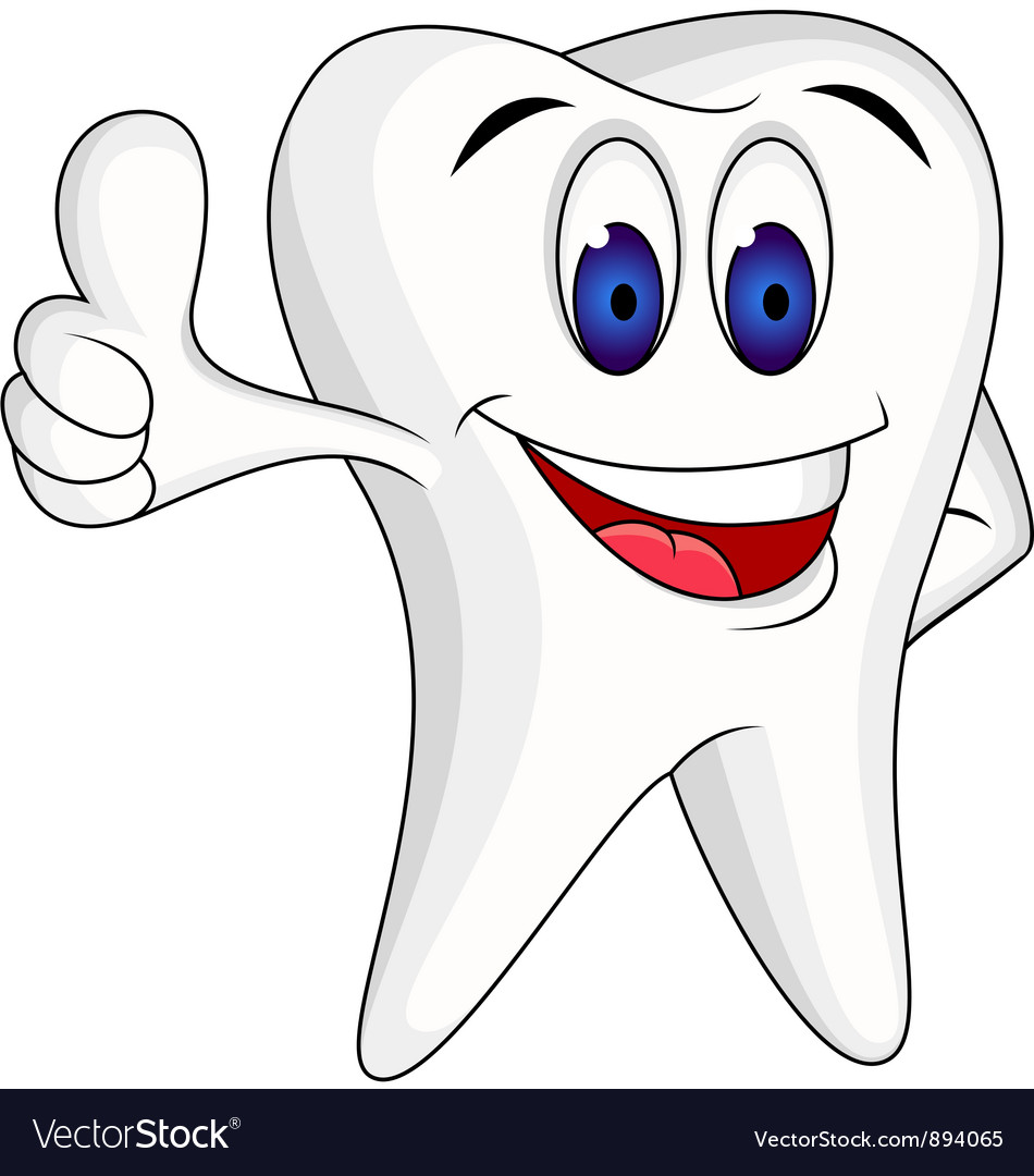 Tooth Character cartoon