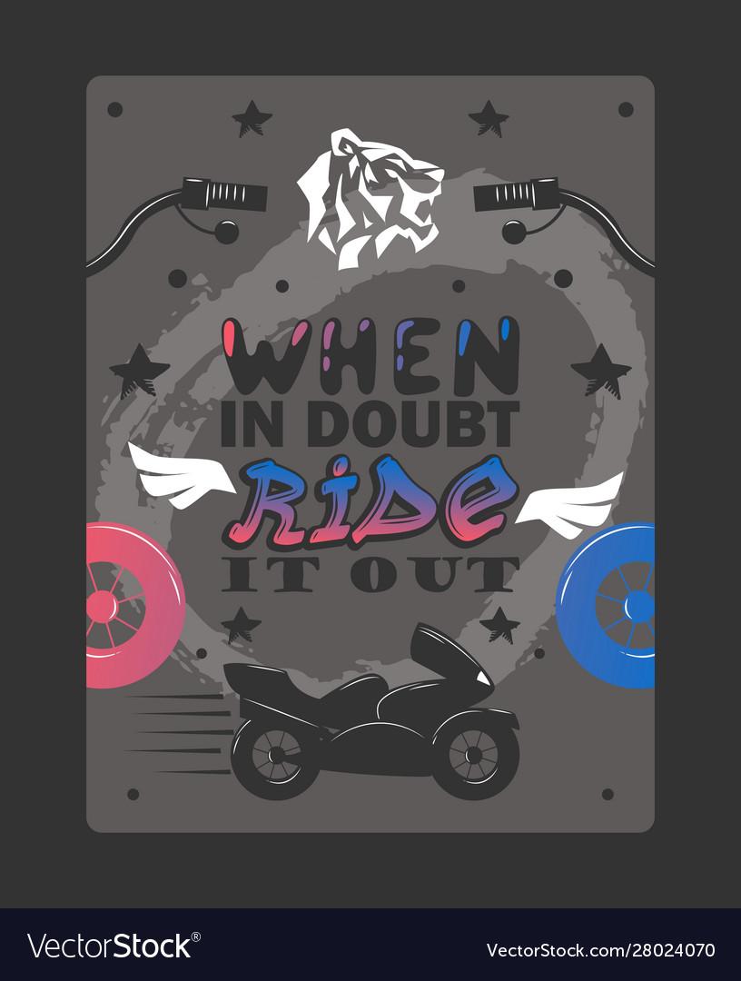 Bikers typography poster